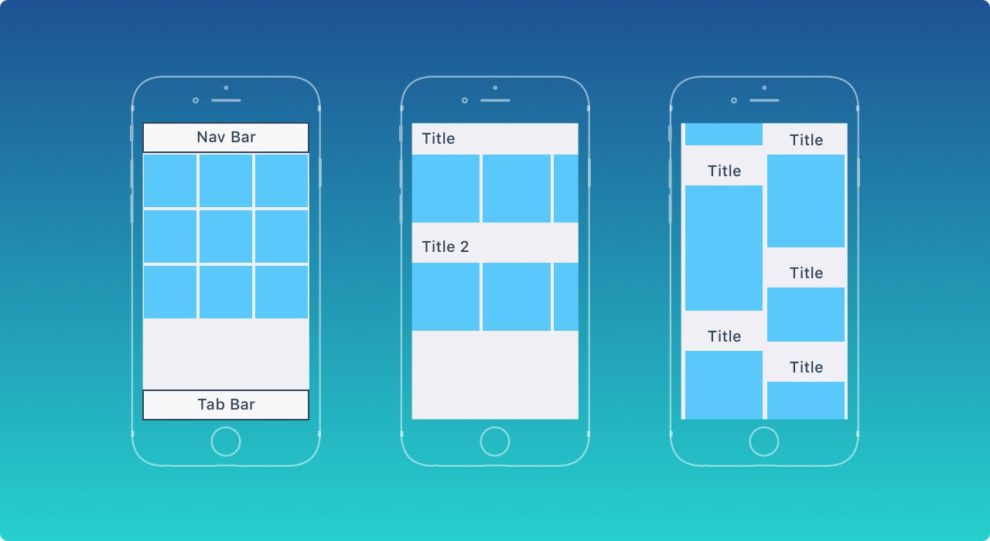 UI design principles of a mobile app