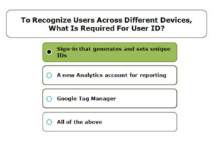 To Recognize Users Across Different Devices, What Is Required For User ID?