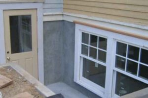 Installation of basement siding