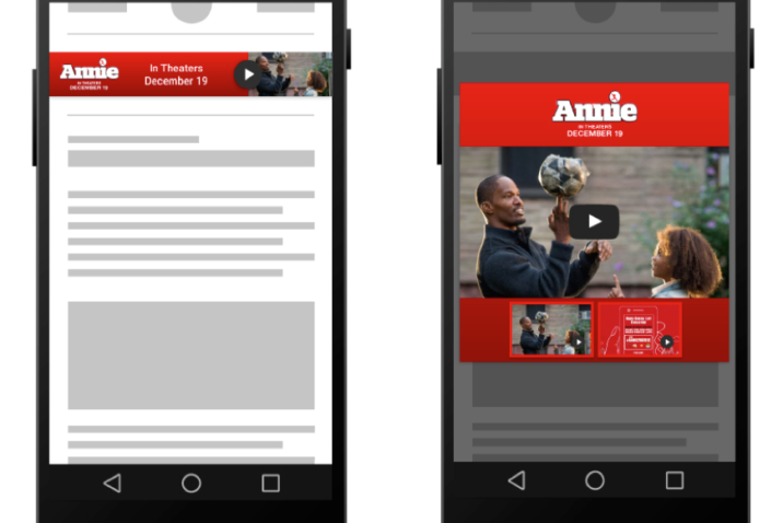 """""""Engagement"""" with a Lightbox ad on a mobile phone or tablet is achieved when someone"""