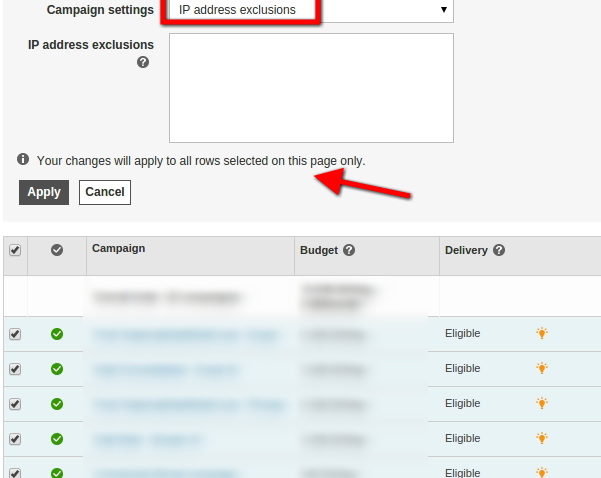 True or False: IP address exclusion is not available for TrueView campaigns