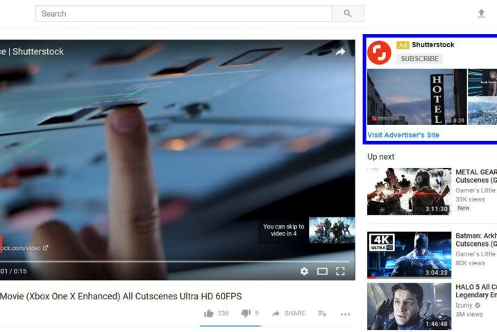 Video advertising on YouTube lets you